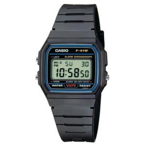 Casio Mens Casual Ana-Digi Gold Dial Sports Watch, Black Resin Strap