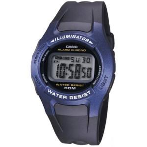 Casio Men's Blue Classic Digital Watch, Black Resin Strap