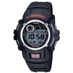 Casio Men's G-Shock Watch With Afterglow Backlight, Black Resin
