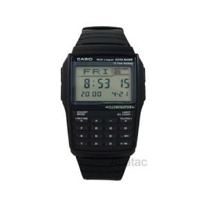 Casio Men's Data Bank Calculator Watch, Black Resin Strap