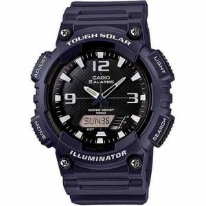 Casio Men's Solar Sport Combination Watch, Blue Resin Strap