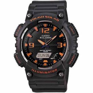 Casio Men's Solar Sport Combination Watch, Grey Resin Strap