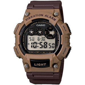 Casio Men's Stainless Steel Sport Digital Watch, Brown Resin Strap