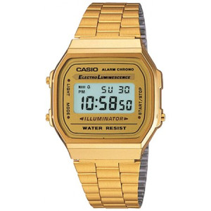 Casio Gold-Tone Stainless Steel Mens Watch A168WG-9WDF