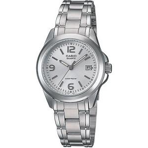 Casio Women's Silver Dial Watch, Stainless-Steel Bracelet