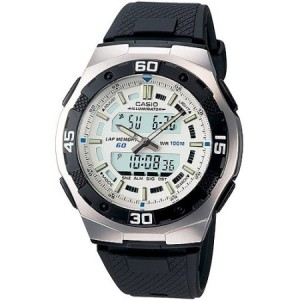 Casio Men's Ana-Digi Sport Watch, Black Resin Strap
