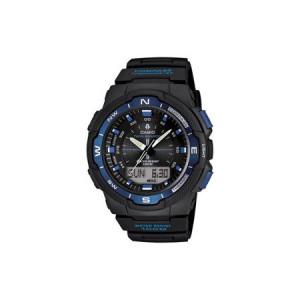Casio Men's Twin Sensor Watch, Blue Accents