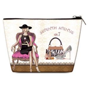 OH Fashion Travel Cosmetic Bag Make up case organizer toiletry Parisian Belle for handbag 1pc