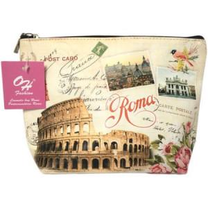 OH Fashion Travel Cosmetic Bag Makeup case organizer toiletry bag Rome medium size handbag 1pc