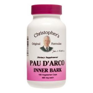 Dr. Christopher's Original Formulas Pau D'arco Inner Bark Capsules, 100 Ct
