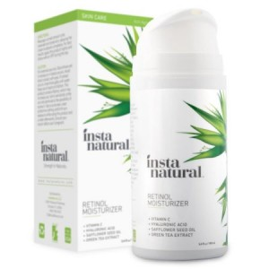 InstaNatural Retinol Moisturizer Anti Aging Cream - Anti Wrinkle Lotion For Face - Helps Reduce Appearance of Wrinkles, Crows Feet, Circles & Fine Lines - With Vitamin C Hyaluronic Acid - 3.4 OZ