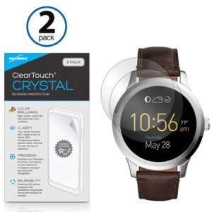 Fossil Q Founder Gen 2 (2016) Screen Protector, BoxWave [ClearTouch Crystal (2-Pack)] HD Film Skin - Shields From Scratches for Fossil Q Founder Gen 2 (2016), Tailor