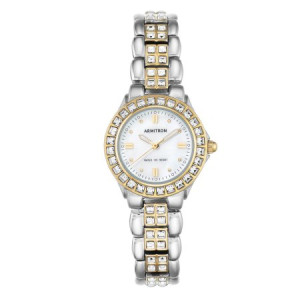 Ladies' Armitron Mother-of-Pearl Dress Watch, Two-Tone