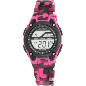 Armitron Women's Sport Countertop Camouflage Watch, Resin Band