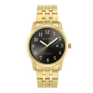 Armitron Eclipse Men's Black and Gold Round Watch