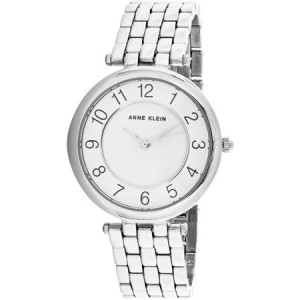 Anne Klein Women's AK-2701WTSV Silver Stainless-Steel Quartz Fashion Watch