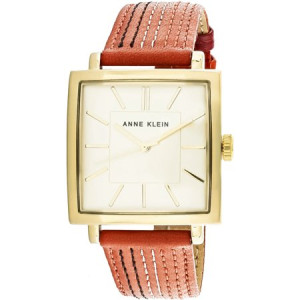 Anne Klein Women's AK-2740CHOR Gold Leather Japanese Quartz Fashion Watch