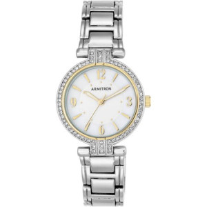 Armitron Women's Round Dress Watch, Silver Bracelet