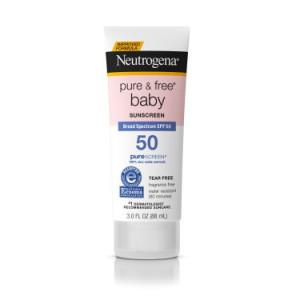 Neutrogena Pure & Free Baby Mineral Sunscreen Broad Spectrum SPF 50, 3 Fl. Oz.