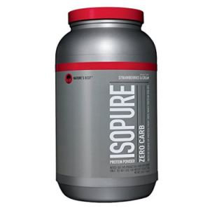 Isopure Zero Carb Protein Powder, Strawberries & Cream, 50g Protein, 3 Lb