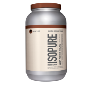 Isopure Whey Protein Isolate Powder, Natural Chocolate, 25g Protein, 3 Lb