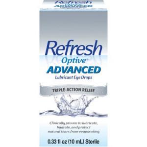 Refresh Optive Advanced Lubricant Eye Drops 0.33 fl. oz. Box
