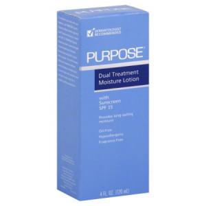 Purpose Dual Treatment Moisture Lotion Sunscreen, SPF 10, 4 fl oz