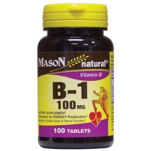 Mason Vitamins B 1 100mg Tablets, 100 Ct