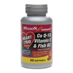 Mason Vitamins Heart Trio: CoQ-10, Vitamin E & Fish Oil, 60ct