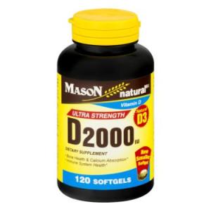 Mason Natural D 2000iu - 120 CT