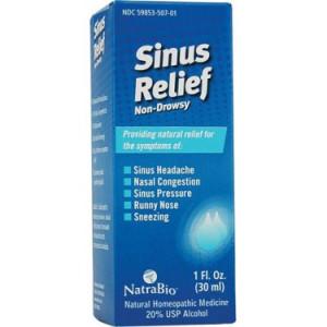 NatraBio Non-Drowsy Sinus Relief, 1 Fl Oz
