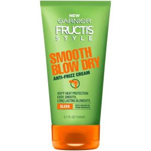 Garnier Fructis Style Smooth Blow Dry Anti-Frizz Cream, 5.1 Fl Oz