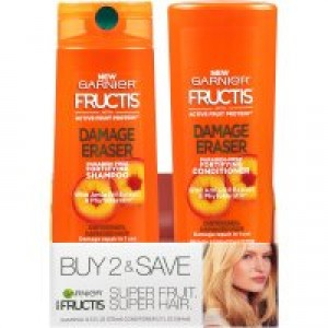 Garnier Fructis Damage Eraser Shampoo & Conditioner 2 Pack, Distressed, Damaged Hair