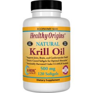Healthy Origins Krill Oil Softgels, 500 mg, 120 Ct