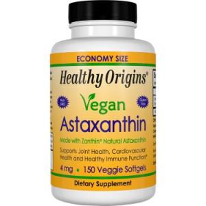 Healthy Origins Vegan Astaxanthin 4 mg Vegetarian Softgels, 150 Ct