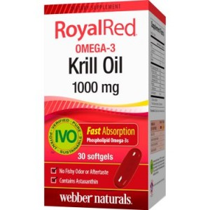Webber Naturals Royalred Omega 3 Krill Oil, 1000 mg, 30 Ct