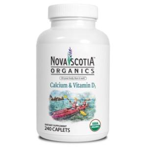 Nova Scotia Organics Calcium and Vitamin D3 Caplet, 240 Ct