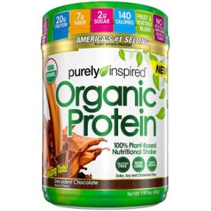 Purely Inspired Organic Vegan Protein Powder, Chocolate, 20g Protein, 1.5 Lb