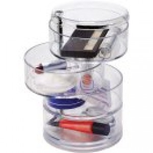 Simplify 4-Tier Swivel Cosmetic and Jewelry Holder