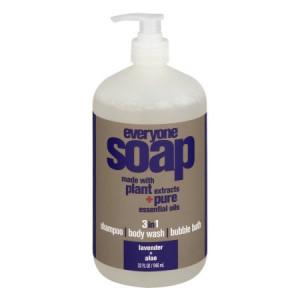 EO Everyone 3-in-1 Body Wash, Shampoo & Soap, Lavender and Aloe, 32 Oz.
