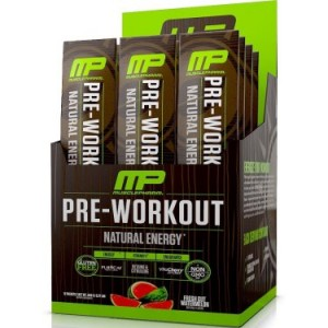 MusclePharm Natural Energy Pre-Workout Packets, Fresh Cut Watermelon, 12 Ct