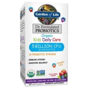 Garden of Life Dr. Formulated Kid's Organic Probiotic Chewables 5 Billion CFU, 30 Ct