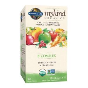 Garden of Life Mykind Organics B-Complex Tablets, 30 Ct