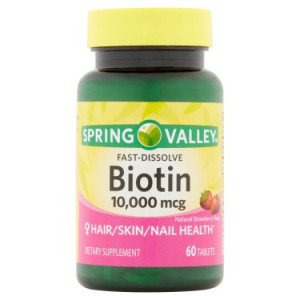 Spring Valley Biotin Fast Dissolve Tablets, 10000 mcg, 60 Ct