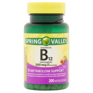 Spring Valley Vitamin B12 Microlozenges, 500 mcg, 200 Ct