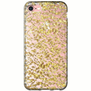Onn by  clear case with gold flecks for iphone 7