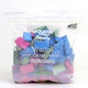 Equate Beauty Wedge Applicator Sponges, Latex Free, 100 Ct.