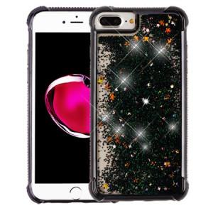 MUNDAZE Black Motion Glitter Chrome Case For Apple iphone 6 Plus/6s Plus Phone