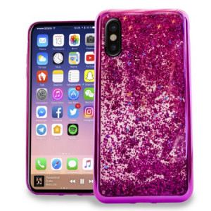 MUNDAZE Hot Pink Motion Glitter Chrome Case For Apple iPhone X Phone
