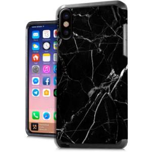 MUNDAZE Black White Marble Design Case For Apple iPhone X Phone